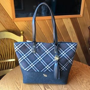 🎉Host Pick🎉 Emma Fox Grey Plaid Tote (NWT)